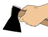 Векторный клипарт: топором в руках