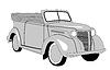 Векторный клипарт: ретро автомобиль
