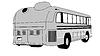 Векторный клипарт: ретро-автобус