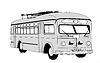 Trolleybus Silhouette