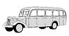 Векторный клипарт: автобус силуэт