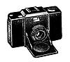 Векторный клипарт: ретро-камеры