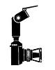 Векторный клипарт: Камера силуэт