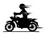 Векторный клипарт: Мотоциклист силуэт