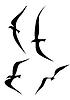 Векторный клипарт: летящих птиц силуэт