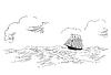 Segelfisch - Silhouette | Stock Vektrografik