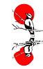 Векторный клипарт: птица на ветке силуэт illustrati