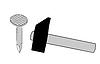 Векторный клипарт: ногтей силуэт