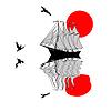 Sailfish silhouette | Stock Vector Graphics