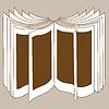 Векторный клипарт: открывая книгу силуэт illustrati