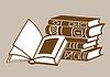 Векторный клипарт: Книги