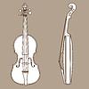 Векторный клипарт: скрипка силуэт
