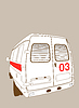Vector clipart: car to ambulance