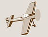 Векторный клипарт: плоскости чертежа на фоне коричневый,