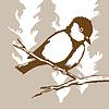 Векторный клипарт: Птица силуэт,