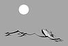 Vector clipart: silhouette tanker
