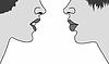 Векторный клипарт: Силуэт две Женщины,