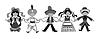 dancing children silhouette illustra