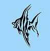 Векторный клипарт: рыба силуэт,