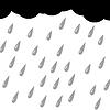 Vector clipart: rain silhouette