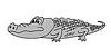 Векторный клипарт: серый крокодил,