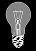 Векторный клипарт: лампочка,