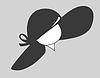 Векторный клипарт: шляпа силуэт
