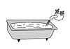 Vector clipart: bath