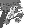 Векторный клипарт: птица