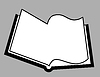 Vector clipart: openning book silhouette
