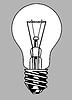 Векторный клипарт: легкий силуэт лампы