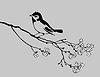 Векторный клипарт: Птица силуэт