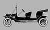 Векторный клипарт: силуэт ретро-автомобиля