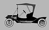 Векторный клипарт: ретро силуэт автомобиля