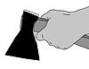 Векторный клипарт: топор в руке,