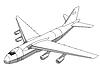 Vector clipart: plane silhouette