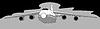 Векторный клипарт: силуэт самолета