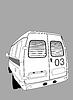 Векторный клипарт: автомобиль скорой помощи