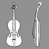 ID 3221258 | Violine Silhouette | Stock Vektorgrafik | CLIPARTO