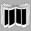 Векторный клипарт: открывая книгу силуэт