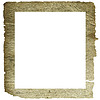 Vector clipart: decorative frame from old paper