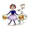 宝宝图 - 女人篮子   光栅插图
