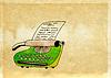 Pisarz typu drukowane na tle grunge | Stock Illustration