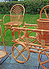 在农村市场编织家具 | 免版税照片