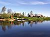 작은 강 마을 | Stock Foto