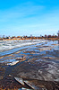 Driving of ice on river | Stock Foto