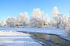 Photo 300 DPI: village is on coast to freeze river