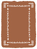 Vector clipart: decorative frame on brown background