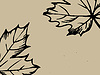 Vector clipart: wood sheet silhouette on brown background