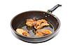 Photo 300 DPI: roasted fish on black griddle